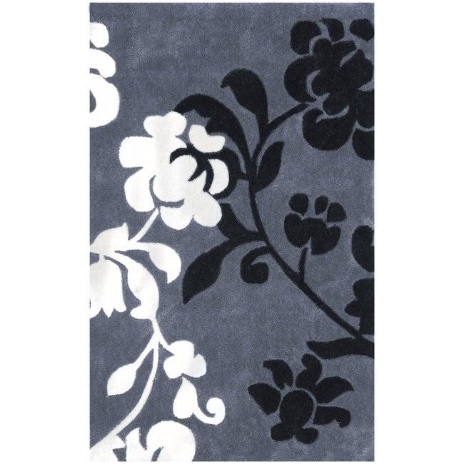 Safavieh Handmade Avant-garde Shadows Dark Grey Rug (2'6 x 4')
