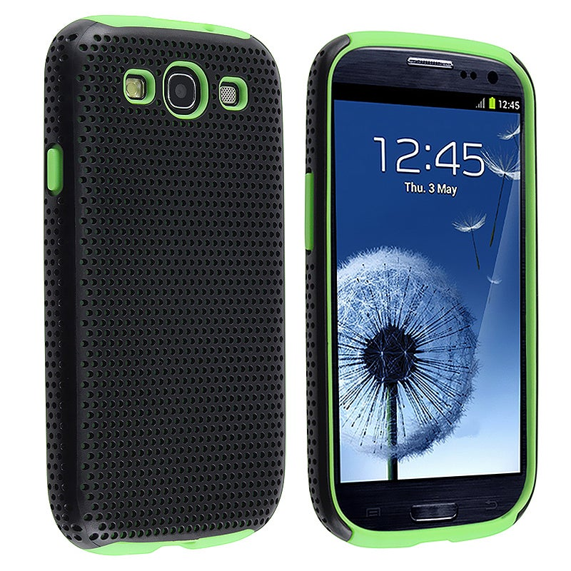 Neon Green/ Black Hybrid Case for Samsung Galaxy S III/ S3