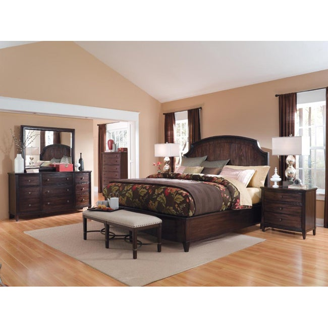 Intrigue Panel Bed 4-Piece King Bedroom Set