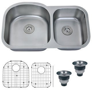 Ruvati 16-gauge Stainless Steel 34-inch Double Bowl Undermount Kitchen Sink