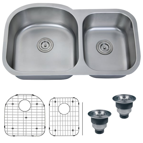 Ruvati 16-gauge Stainless Steel 34-inch Double Bowl Undermount Kitchen Sink
