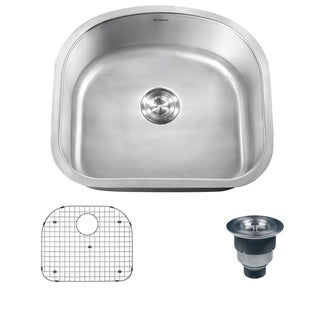 Ruvati 16-gauge Stainless Steel 23-inch Single Bowl Undermount Kitchen Sink