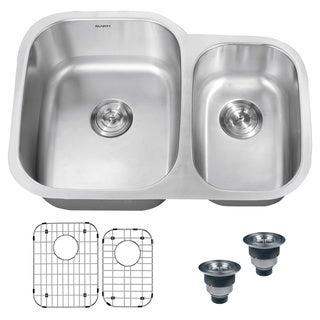Ruvati 16-gauge Steel Double Bowl 29-inch Undermount Kitchen Sink