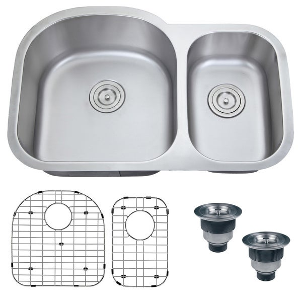 Ruvati 16-gauge Steel Double Bowl 32-inch Undermount Kitchen Sink