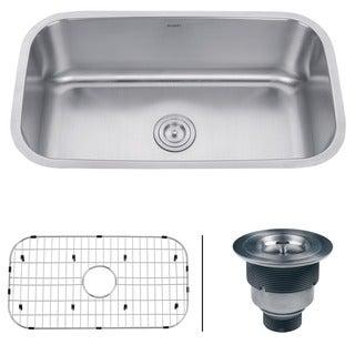 Ruvati 16-gauge Steel Single Bowl 32-inch Undermount Kitchen Sink