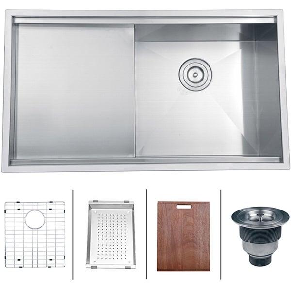 Ruvati 16-gauge Stainless Steel 33-inch Single Bowl Undermount Kitchen Sink