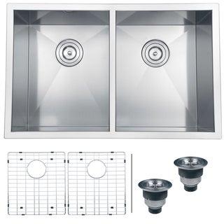 Ruvati 16-gauge Stainless Steel 30-inch Double Bowl Undermount Kitchen Sink
