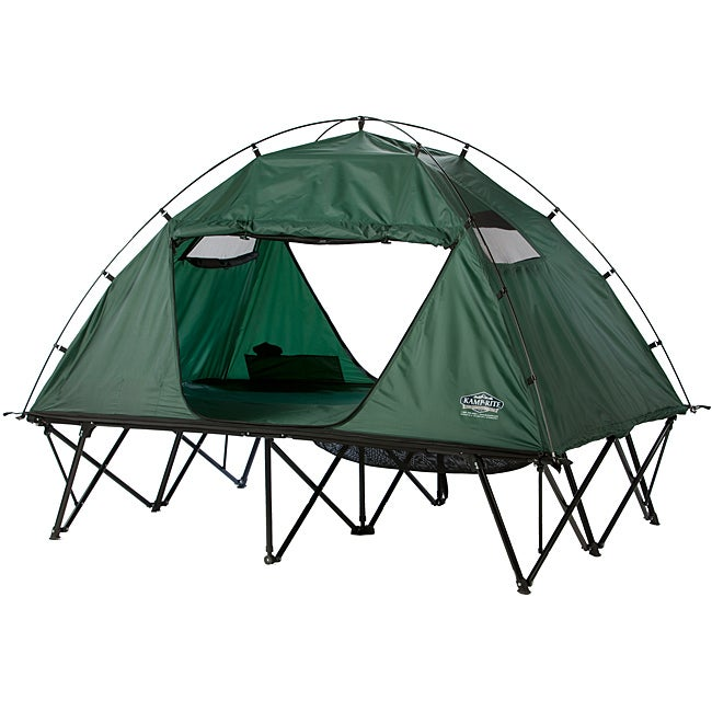 Kamprite Double Tent Cot with Rainfly