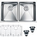 Ruvati 16-gauge Stainless Steel 32-inch Double Bowl Undermount Kitchen Sink
