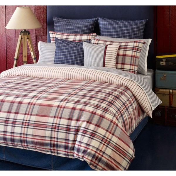 Tommy Hilfiger Vintage 3-piece Comforter Set with Optional Euro Sham Separates
