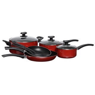 Gordon Ramsay Everyday by Royal Doulton Red Non-stick 10-piece Cookware Set