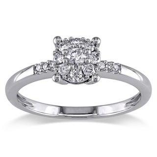 Miadora 14k White Gold 1/4ct TDW Diamond Engagement Ring (G-H, I1-I2)