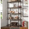 TRIBECCA HOME Myra Vintage Industrial Modern Rustic 40-inch Bookcase