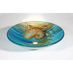 Seashell Glass Bowl Vessel Bathroom Sink