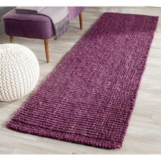 Safavieh Hand-woven Weaves Purple Fine Sisal Rug (2'6 x 8')