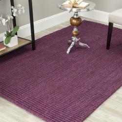 Safavieh Hand-woven Weaves Purple Fine Sisal Rug (9' x 12')