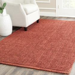 Safavieh Hand-woven Weaves Rust Fine Sisal Rug (9' x 12')