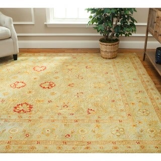 Safavieh Handmade Majesty Light Brown/ Beige Wool Rug (9' x 12')