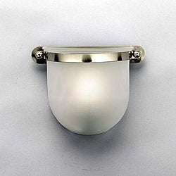 Contemporary 1 Light Brushed Nickel Sconce