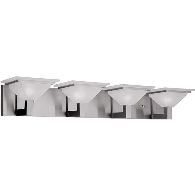 Contemporary 4 Light Nickel Bath/ Vanity