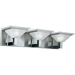 Contemporary 3 Light Nickel Bath/ Vanity