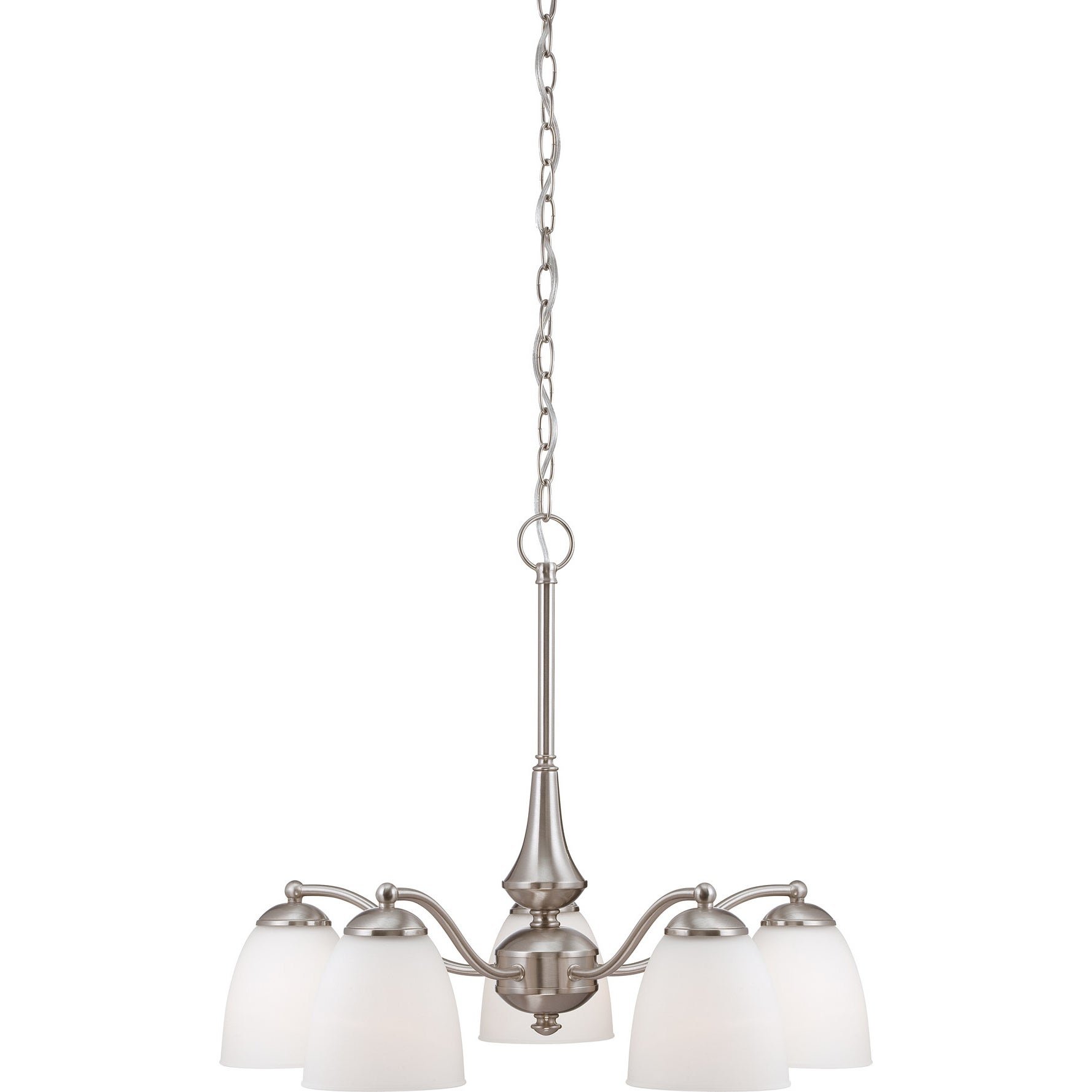 Nuvo 'Patton' 5-light Brushed Nickel Chandelier