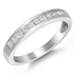 14k Gold 1/2ct TDW Princess-cut Diamond Channel-set Wedding Band (H-I, I1)