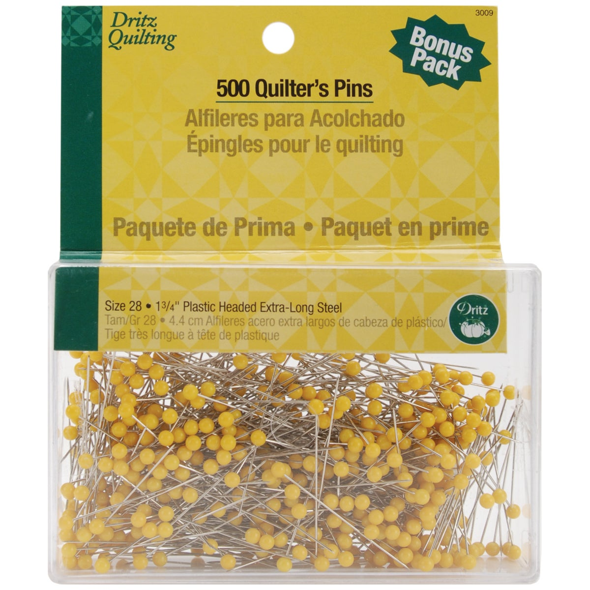 "Dritz Quilting Quilter's Pins -1-3/4"" 500/Pkg"