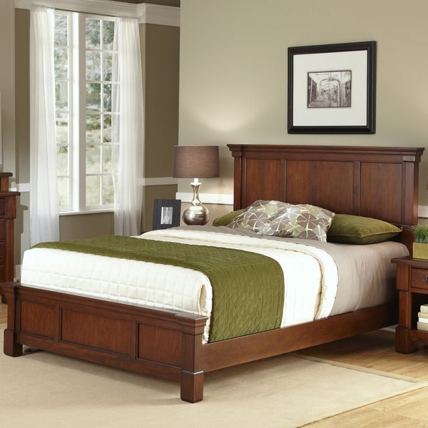The Aspen Collection Rustic Cherry Queen Bed Overstock