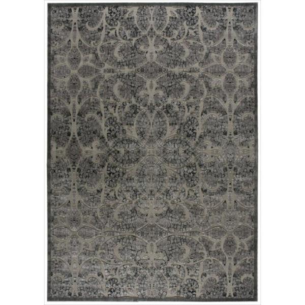 Nourison Graphic Illusions Moasic Grey Rug (7'9 x 10'10)