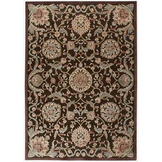 Nourison Graphic Illusions Medallion Chocolate Multi Rug (5'3 x 7'5)
