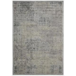 Nourison Graphic Illusions Grey Antique Damask Pattern Rug (5'3 x 7'5)