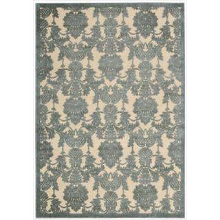 Nourison Graphic Illusions Damask Teal Rug (7'9 x 10'10)