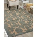 Graphic Illusions Damask Teal Rug (7'9 x 10'10)