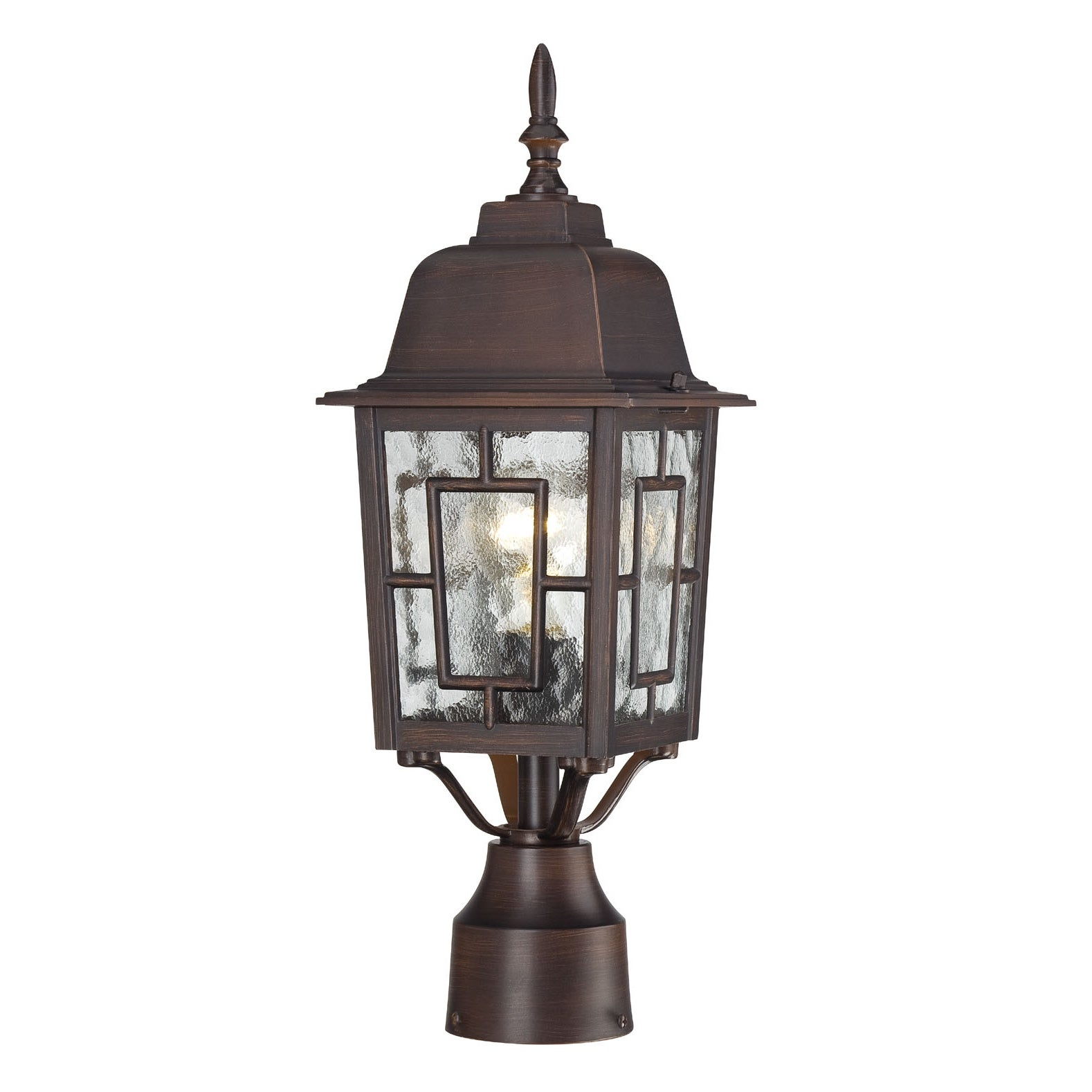 Discount Light Fixture: Nuvo Banyon 1-light Rustic Bronze 17-inch Post Fixture