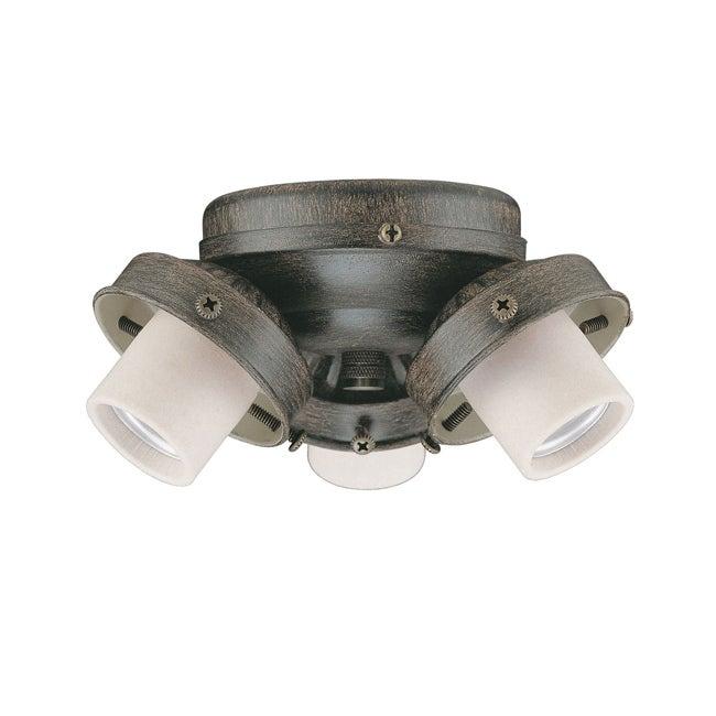 Three LIght Aged Pecan Ceiling Fan Light Kit