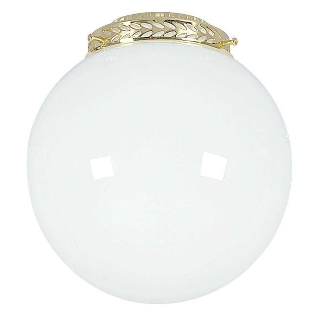 Polished Brass Opal Glass Ball Fan Light Kit