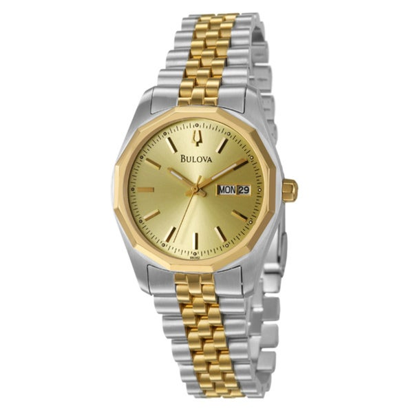 bulova s yellow gold plated stainless steel