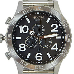 Nixon Men's 51-30 Chronograph Black Watch