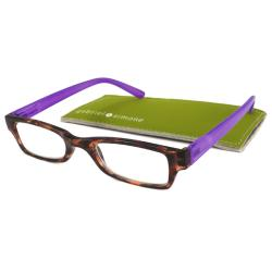 Gabriel+Simone Readers Men's/ Unisex Saint Germain Tortoise/ Purple Reading Glasses