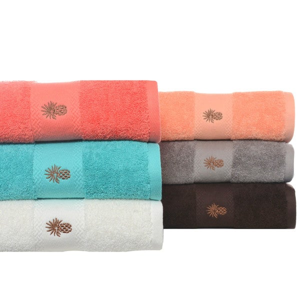 Tommy Bahama Embroidered-Pineapple Cotton 3-piece Towel Set