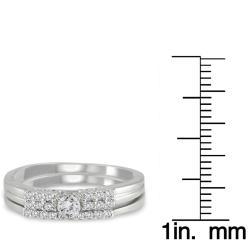 10k White Gold 1/4ct TDW 2-Piece Diamond Ring Set (I-J, I1-I2)