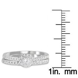 10k White Gold 1/2ct TDW White Diamond Bridal Ring Set (I-J, I1-I2)