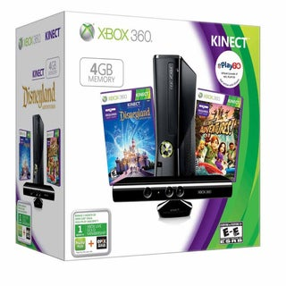 XBOX 360 - Kinect Holiday Bundle w/Disneyland Adventures &amp; Kinect Adventures 4 GB