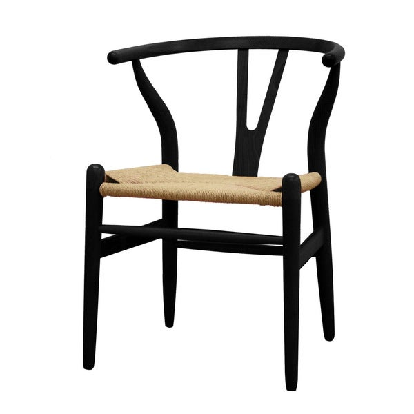 Baxton Studio Wishbone Black Wood Y Dining Chair