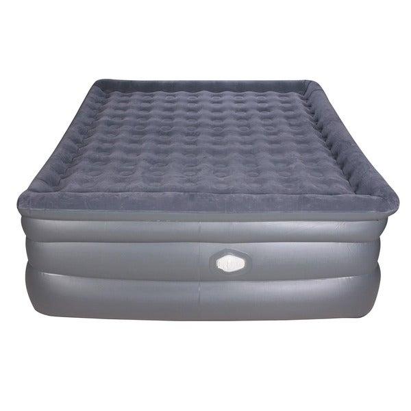 Airtek Deluxe Comfort Coil Queen-size Raised Pillowtop Air Bed