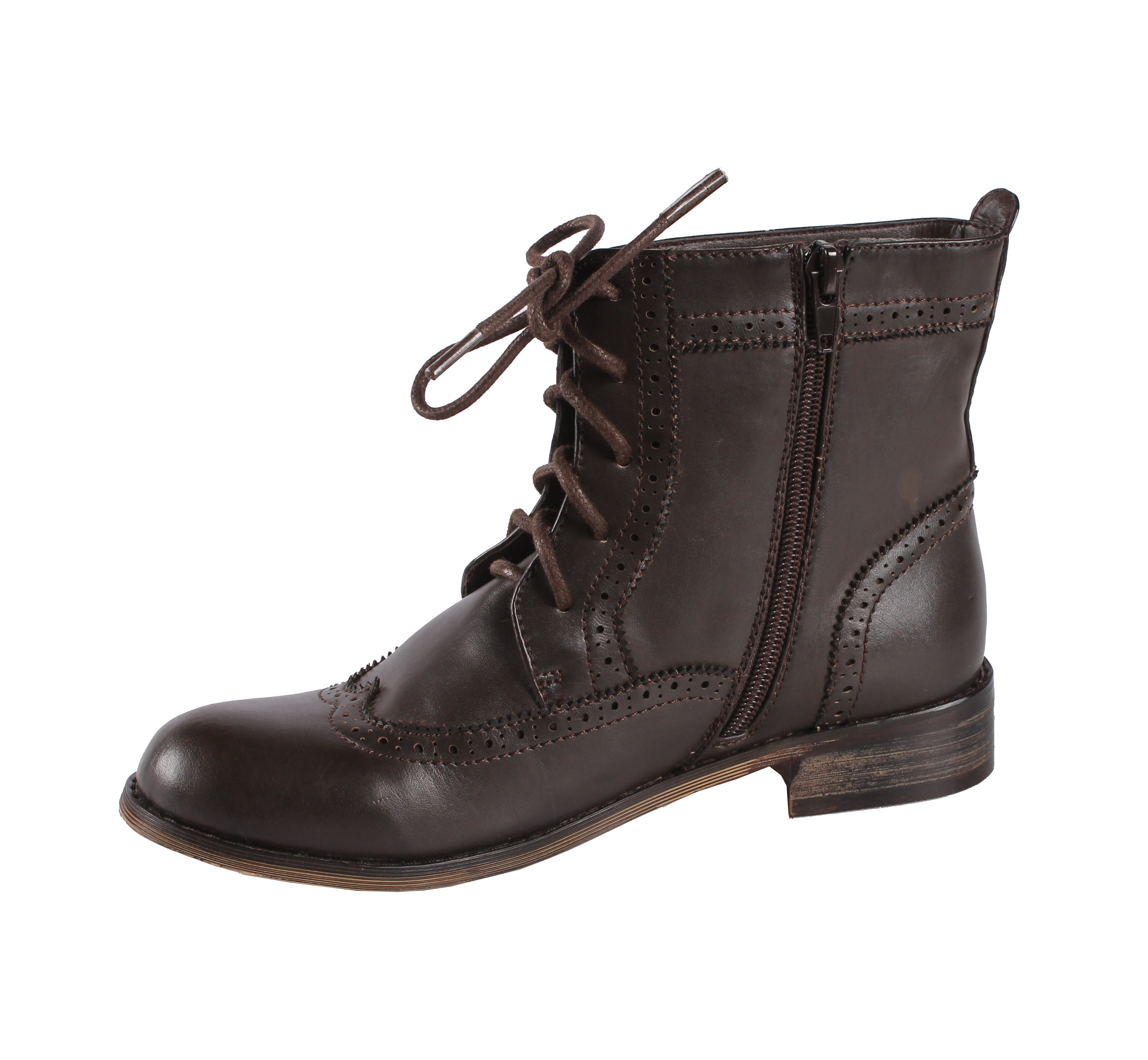 Jacobies by Beston Women's Black 'Cowgirl-5' Combat Ankle Boots