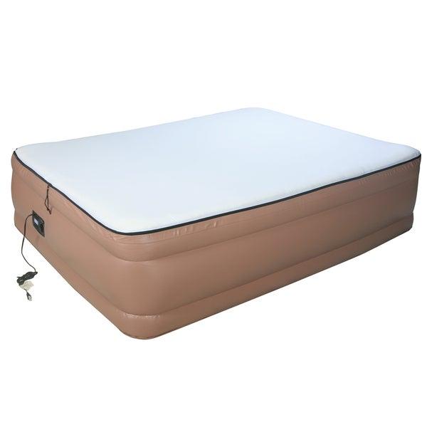 Airtek Raised Memory Foam Queen-size Air Bed With Built-in Pump
