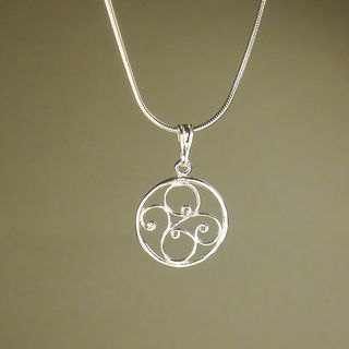 Jewelry by Dawn Round Filigree Sterling Silver Snake Chain Necklace