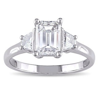 Miadora 14k White Gold 1 1/2ct TDW Certified Diamond Ring (F, VS1)